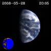 frame from Moon transit of Earth
