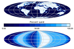 standard map versus an alien map of Earth based on observations