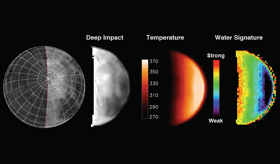 Water Abundance is Dependent on Temperature in Deep Impact Maps