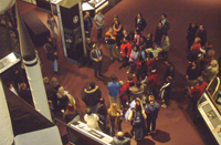 Attendees at a recent FSN get to explore the National Air & Space Museum after hours.