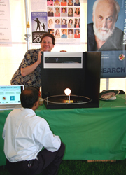Drs. Livengood and Hewagama demonstrate a transiting exoplanet.