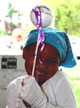 Young girl showing her comet on a stick at MD Day 2008.