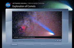 link to flash animation of Explore Comets interactive